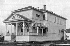 Cranbrook Masonic Temple on Fenwick Avenue, still standing today as the Stage Door Theater : Columbia Basin Institute of Regional History