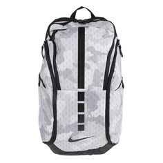 Head to the court with all your gear in tow with the Unisex Nike Hoops Elite Max Air Team 2.0 Basketball Backpack. Densely woven 600D polyester material provides durability, while the large compartment and multiple pockets offer plenty of space for your clothes and shoes. #CollageHoopsFever