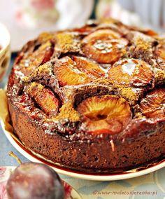 czekoladowe ciasto ze sliwkami Plum Cake, Pumpkin Cheesecake, Tart, Sweet Tooth, Deserts, Muffin, Food And Drink, Cooking Recipes, Sweets