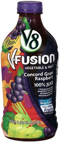 V8 V-Fusion Concord Grape Raspberry 100% Juice, 46-Ounce Bottles (Pack of 8) ** Read more  at the image link.