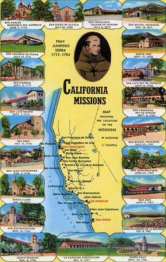 California Missions- kids study them in 4th grade, and our teacher gives extra credit for the ones we visit.
