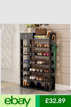 Shoe Storage Home, Furniture Shoe Storage Modern, Shoe Storage Design, Wooden Shoe Storage, Shoe Storage Shelf, Entryway Shoe Storage, Shoe Shelves, Shelving, Shoe Rack Table, Wood Shoe Rack