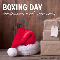 Today is Boxing Day! Have you ever wondered what it's all about? Here's a little background info on it as well as 9 ideas for traditions that you can start today!!