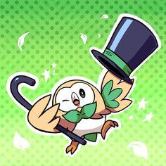 Rowlett the new bird pokemon is so cute. So fancy!