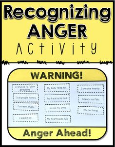 Product DescriptionDo you students know when they are angry? This resource includes a cut and paste activity, discussion points, and three follow up activity ideas to help students learn to recognize their anger warning signs. Students will choose from listed warning signs, or write in their own, and then cut and paste these signs onto their own warning sign. This can be used a visual reminder to identify anger before it gets out of control!