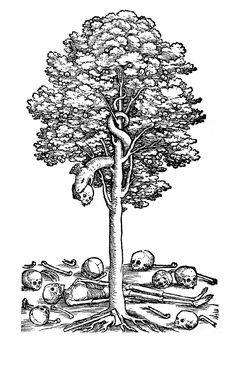 """deathandmysticism: """"Hans Varnier the Elder, Tree of the Knowledge of Good and Evil, century """" Tattoo Pain, Get A Tattoo, Good And Evil Tattoos, Tree Sleeve, Scary Snakes, Medieval, Religious Art, Unique Tattoos, Occult"""