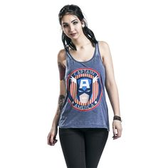 "Top donna ""Burnout Washed"" di #CaptainAmerica."