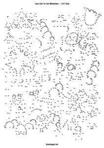photo relating to Free Printable Extreme Dot to Dot Pdf identified as Intense dot in the direction of dots printable PDF worksheet. Remarkably