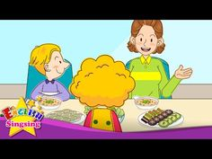 [Invitation] Help yourself. (At the table) - Easy Dialogue for Kids English Rhymes, Kids English, Learn English, Italian Lessons, English Lessons, Humpty Dumpty Nursery Rhyme, How To Speak Italian, Esl Learning, Small Movie