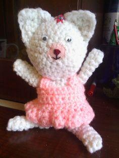 Crocheted Amigurumi Kitty