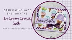 Card making made (SUPER) easy with Ice Cream Corner Suite from Stampin' Up! Birthday Fun, Birthday Cards, Diy Paper, Paper Crafts, Label Shapes, Specialty Paper, Heartfelt Creations, Paper Pumpkin, Stampin Up Cards