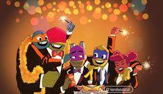 Ninja Turtles Art, Cute Turtles, Teenage Mutant Ninja Turtles, Turtle Tots, Tmnt Comics, Tmnt 2012, Fan Art, Pokemon Cards, Digimon