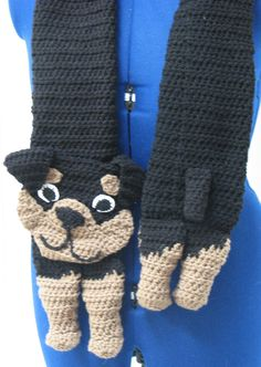 Rottweiler Scarf and Tote Set Crochet by DonnasCrochetDesigns, $5.99