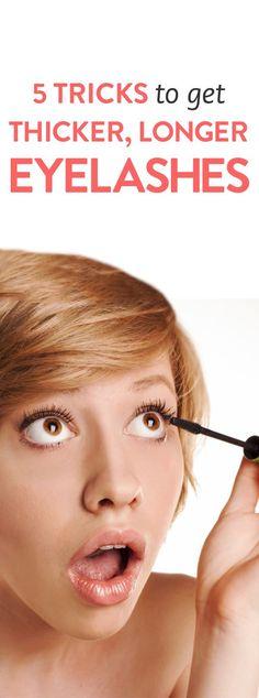 5 tricks for getting longer, thicker eyelashes