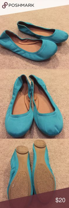 Green Lucky Brand Ballet Flats. NWOB Fabric upper man-made lining Lucky Brand Shoes Flats & Loafers