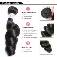 Loose Wave 10A Grade 3/4 bundles with 13x4 Frontal - 10/10/10 Inch & 10 Inch Frontal