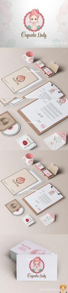 Cupcake Lady - logo for sale! #cupcake #lady #cupcakelady #logo #design #sale #logostore #stocklogos #logopond #behance  https://www.behance.net/gallery/Cupcake-Lady-Logo-for-Sale-/14032355