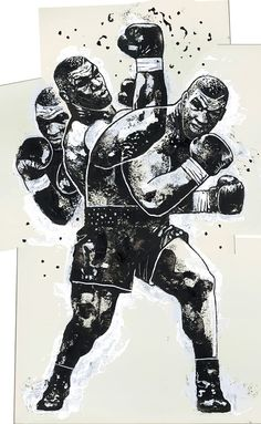 "Gian Galang: ""Iron Mike"" 16″x26″ Acrylic, Digital. 2016. Check..."