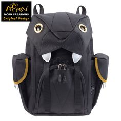 123.99$  Watch now  - Original Designs From Hong Kong Morn Creations Water Repellent 600D Polyester fabric with YKK zipper Big Cats Laptop Backpack