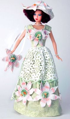 One of the lovely doll dresses created by Hankie Couture, http://hankiecouture.com/