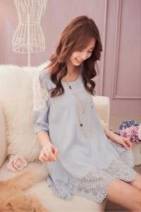ROMANTIC CUT OUT SHORT SLEEVE TUNIC