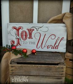 Church Street Designs: Peace On Earth - Hand Painted Christmas Signs