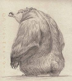 """by David Colman Not much to say except that its a page from my sketchbook. Also featured in my new book """"Animal Character Design:Grizzly Bears"""""""