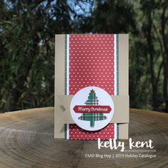 Stampin' Up! Christmas Labels, Stampin Up Christmas, Christmas Cards To Make, Plaid Christmas, Holiday Cards, Christmas Crafts, Christmas 2019, Homemade Christmas, Christmas Stuff