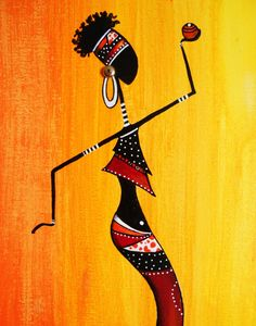 Etsy - Shop for handmade, vintage, custom, and unique gifts for everyone African Artwork, African Art Paintings, Worli Painting, Art Afro, Shiva Tattoo Design, Afrique Art, Psychedelic Drawings, Abstract Face Art, Art Premier