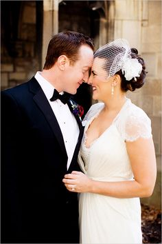 cathedral wedding | birdcage veil | mr and mrs | just married | black tux groom | #weddingchicks