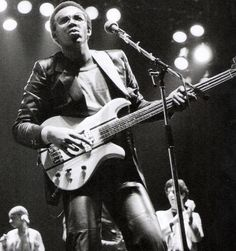 Bernard Edwards - Bassist from Chic. On stage in leather jeans and a BC Rich bass. He was one of the cool cats.