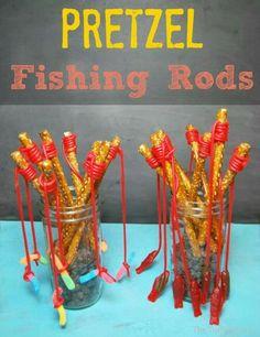Pretzel fishing rod☺