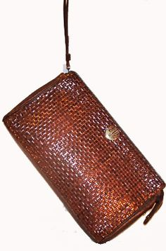 woven leather purses