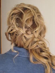 Bohemian Braid, Wedding Hair:  by Kelly Scripps