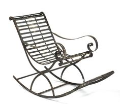 """Zentique Iron Rocking Chair PC017 - Zentique Iron Rocking Chair PC017Sku: PC017Manufacturer: Zentique FurnitureCategory: SeatingSub Category: Occasional ChairsDimensions: (W) 22 X (H) 37 X (D) 52 InchesSeat Depth: 19.5""""Seat Height: 19.5"""""""