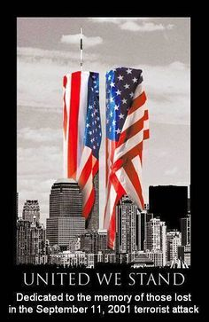 United we stand. American flag and World Trade Center World Trade Center, Trade Centre, I Love America, God Bless America, Awesome America, America America, We Are The World, In This World, 11 September 2001