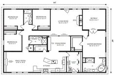 The MULBERRY - Modular Home Floor Plan | Jacobsen Homes. This is probably the most perfect layout I have ever seen! LOVE this floor plan. Love the BIG laundry room but would make the retreat into another bedroom