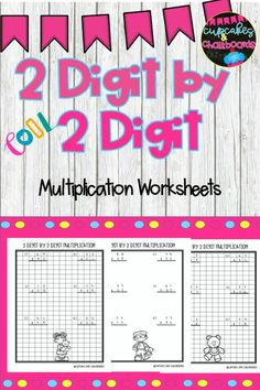 Two digit by two digit multiplication worksheets with and without grid lines. This set of worksheets are great for practicing skills, early finishers, independent practice, small group, math stations, centers, reinforcement, enrichment, assessment, and homework. #3rdgrade #thirdgrade #4thgrade #fourthgrade #5thgrade #fifthgrade #math #multiplication #twodigit