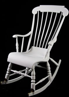 White Antique Rocking Chair