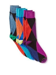 Unsimply Stitched Men's Combed Cotton Socks (3 Pairs) (Multi)