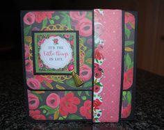"Jlospaperfun: Wallet Mini Album Measures 6 1/4"" x 6 1/2""Carta B..."