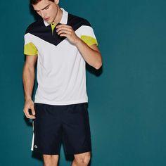 dc26e0abd21b Lacoste Men s SPORT Tennis Colorblock Tech Pique Polo Lacoste Sport