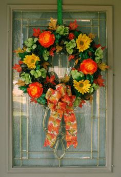 Fall Wreath for Front Door, Fall Decor for Front Porch, Fall Wreath Burlap, Rustic Floral Wreath, Fall Wreath Farmhouse, Fall Foliage Decor