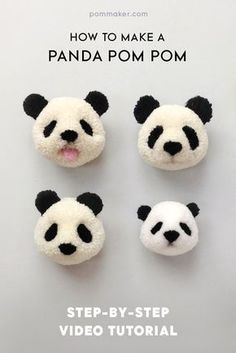 Pom Maker Tutorial - How to Make a Panda Pompom | blog.pommaker.com *squeeeeeeeee*
