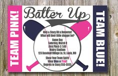 baseball theme gender reveal baby shower by allaboutpartyprints oh