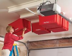 Overhead garage storage ideas to help organize small and large garage spaces