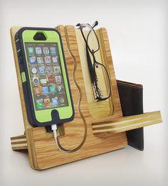 Darker Wood IPhone/Eyeglasses Docking Valet | Home Gadgets | Undulating Contours | Scoutmob Shoppe | Product Detail
