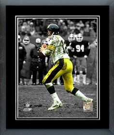 Terry Bradshaw Framed With double black matting Ready To Hang- Awesome & Beautiful
