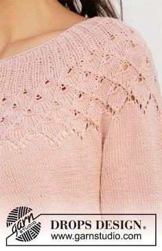 Alberta rose jacket / drops - free knitting patterns by drops design Knitting Designs, Knitting Patterns Free, Knit Patterns, Free Knitting, Knitting Projects, Finger Knitting, Knitting Tutorials, Laine Drops, Rose Jacket