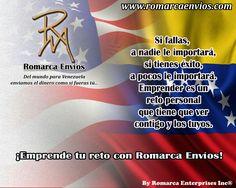 ¡Emprende tu reto con Romarca Envios! #RomarcaEnvios #EnviosDeDinero #VenezolanosEnElExterior #VenezolanosEnElMundo